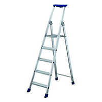 Image for 10 Ribbed Tread Platform Step Ladder Aluminium 358760