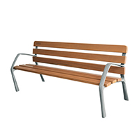 Image for Wooden Bench With Cast Iron Legs 370109