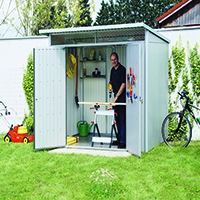 Image for VFM Large Metallic Garden Storage Shed 370780