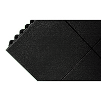 Image for All-Purpose Solid Surface Black Anti-Fatigue Modular Mat 312413