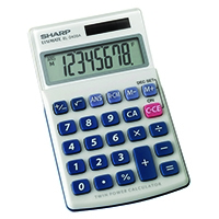 Image for Sharp Silver 8-Digit Hand Held Pocket Calculator EL240SAB