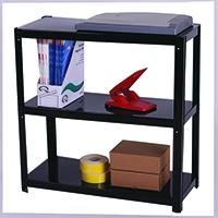Image for Storage Solutions Light Duty Boltless 3-Shelf Unit Black ZZLS3BK076B07030