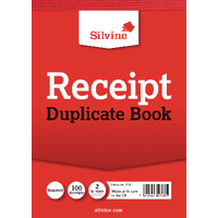 Image for Silvine Duplicate Receipt Book 105x148mm Gummed (12 Pack) 230