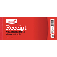 Image for Silvine Receipt Book 80x202mm With Counterfoil (36 Pack) 233