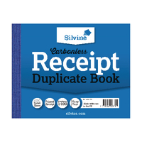 Image for Silvine Carbonless Duplicate Receipt Book 102x127mm (12 Pack) 720-T