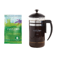 Taylors Lazy Sunday Coffee 45g Pouches With Free Cafetiere 70101