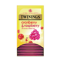 Twinings Cranberry, Raspberry and Elderflower Tea Bags (20 Pack) F14381