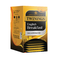 Twinings Decaffeinated English Breakfast Tea Bags (20 Pack) x4 F12423