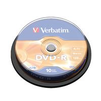 Image for Verbatim 4.7GB 16x Speed Spindle DVD-R (10 Pack) 43523