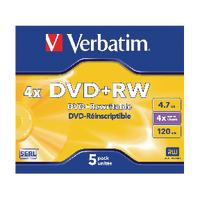 Image for Verbatim DVD+RW 4x (5 Pack) 43229