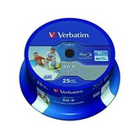 Image for Verbatim Blu-ray BD-R 25 GB 6x Printable Spindle (25 Pack) 43811