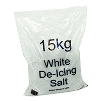 White Winter De-Icing Salt 15kg Bag (72 Pack) 314265