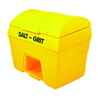 Winter Salt and Grit Bin With Hopper Feed 400 Litre Yellow 317071