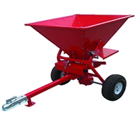 Red 350lb ATV Salt Spreader 160 Litre 386125
