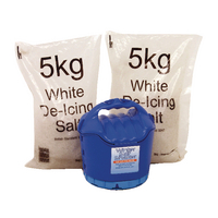 Handheld Salt Shaker and 2xBags of White Salt 5kg 389106
