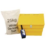 Image for 50 Litre Lockable Grit Bin and 25kg Salt Kit 389116