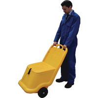 Mobile Salt and Grit Bin 75 Litre Yellow 388946