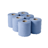 Image for 1 Ply Blue Centrefeed Rolls 290mx180mm (6 Pack) CBL290S