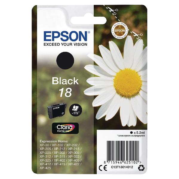 Epson 18 Black Inkjet Cartridge