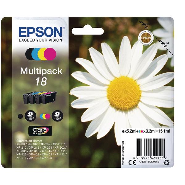 Epson 18 KCMY Cartridge Pk4
